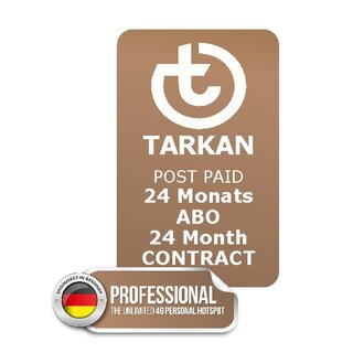 24 month SUBSCRIPTION - TARKAN Professional + 20 country UNLIMITED + 30 countries 2,5 GB