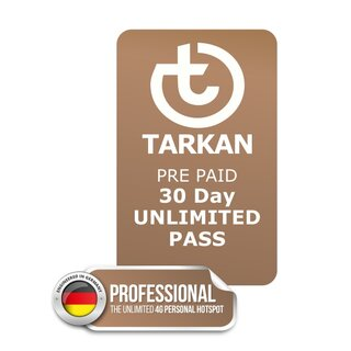 30 Tages UNLIMITED PASS für TARKAN Professional