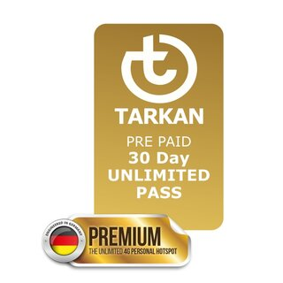 30 Day UNLIMITED PASS for TARKAN Premium