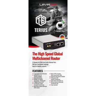 TERIUS ADVANCED VERSION - inklusive 3 TERIUS ADVANCED Extension Modul - mit IP Data Compression Modul - mit Wartungsvertrag 12 Monate